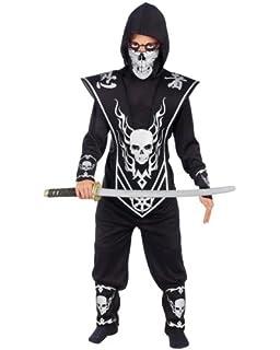 Amazon.com: Haunted House Childs White Ninja Costume, Large ...