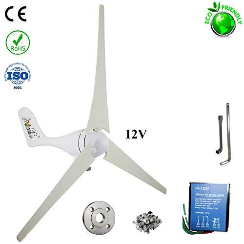 (Wind Turbine Generator Kit 400Watt DC12V/24V 3 Blades Homes, Businesses Industrial Energy Supplementation)