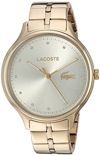 Lacoste Women's 'Constance' Quartz Tone and Gold Plated Casual Watch(Model: 2001008)