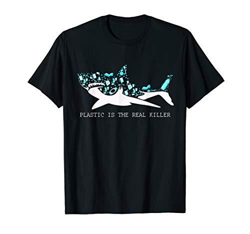 Plastic Is The Real Killer T-Shirt Shark Shirt Gift