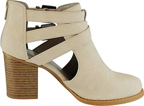 Pictures of Cambridge Select Women's Side Cut Out Light Taupe Nbpu 3