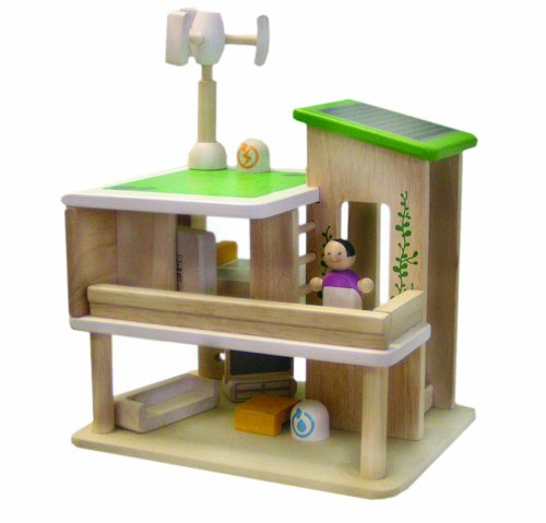 Plan toys green dollhouse with furniture roselawnlutheran for Free greene and greene furniture plans