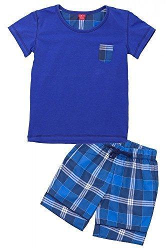 V de la joven Dos Partes Pijama Corta azul cobalto 104/110 cm