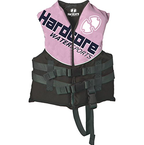 Hardcore Water Sports Child Life Jacket Vest for 30-50 lbs. | US Coast Guard Approved (Pink, Child) ()