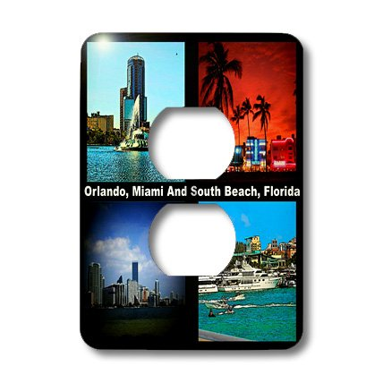 3dRose lsp_21722_6 Orlando Miami And South Beach Florida 2 Plug Outlet - Florida Outlet Orlando