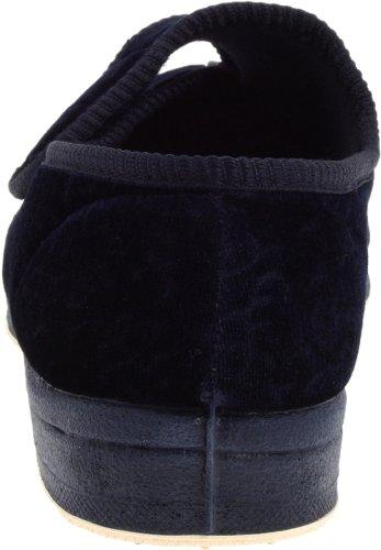 Women's Jewel Slipper Foamtreads Navy Velour F4xFw8q