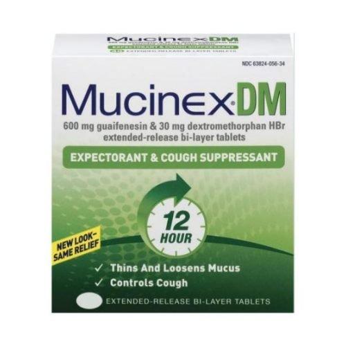 Mucinex DM Regular Strength Expectorant and Cough Suppressant - 6 per Pack - 24 Packs per case.