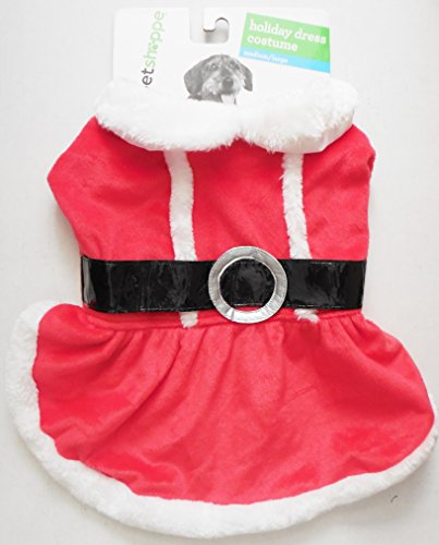 Santa Costume Walgreens (Holiday Santa Dress Suit /Coat Costume Medium/Large Female Dog)