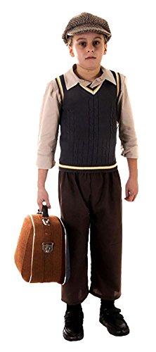 (Rimi Hanger Victorian Boy Oliver Twist Costume Kids Evacuee Boy Book Week Fancy Dress Outfit Evacuee Boy Costume Large 10-12)
