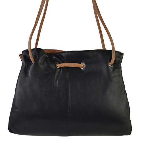 honey Handbag Black Leather Stylish Soft Gigi Shoulder Classic Othello Collection Ladies EIRqwzv