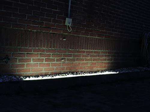 Led Gabionen Licht Beleuchtung LED 2x0,60m länge 360° Farbe warmweiss Außenbeleuchtung Steinmauer Garten Anschluß 230 Volt über offene Kabelenden
