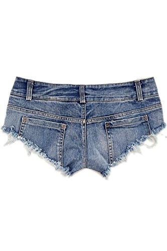 Faible Club Court Mini Blue Denim Short La Des Coup Jeans Taille En dUnfqHB
