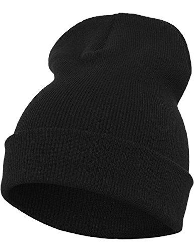 Flexfit - Gorro Largo Pesado, Todo el año, Unisex, Color Morado, tamaño Talla única negro