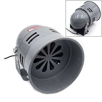 Big Size 12v Air Raid Siren Horn Tornado Alarm Real Motor Drive Police Fire Good