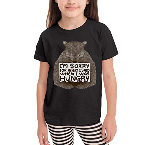 Rusuanjun Im Sorry for What I Said When I was Hungry Children's T-Shirt Black 4T Fun and Cute]()