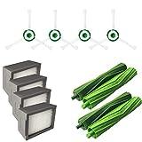 Chiccc Side Brush&Hepa Filters&Bristle Brush for irobott Roomba i7 i7+/i7 Plus E5 E6 E7