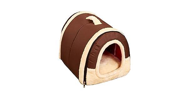 YUnnuopromi - Caseta Universal para Mascotas, Pared de ladrillo/Estrellas, Plegable, cálida, para Todas Las Estaciones: Amazon.es: Jardín