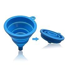 Ocathnon Collapsible Silicone Filter Silicone Collapsible Funnel Filter Cone Coffee Fliter Blue