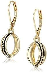 Napier Gold Mine Gold-Tone Drop Earrings