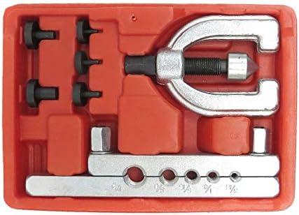 自動車用ブレーキパイプのメトリックダブルフレアリングブレーキラインツールキットパイプフレアリングキットブレーキ燃料チューブの修復フレアツールセット