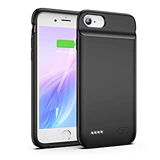OMEETIE Battery Case for iPhone 8 7 6s 6 SE 2020(2nd Generation), 3200mAh Charging Case Portable Protective Charger Case for iPhone 8 7 6s 6 SE 2020(2nd Generation) (4.7inch)(Black)