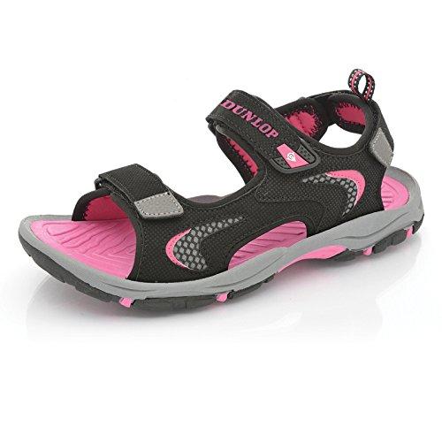 DunlopTrekking - Zapatos con tacón mujer Black - Fuchsia
