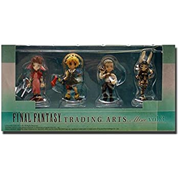 amazon com final fantasy trading arts vol 3 mini pvc figure 4 pack