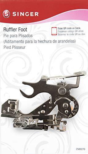 Ruffler Attachment Foot - SINGER Sewing Machine Ruffler Attachment Presser Foot for Low-Shank Sewing Machines (Renewed)