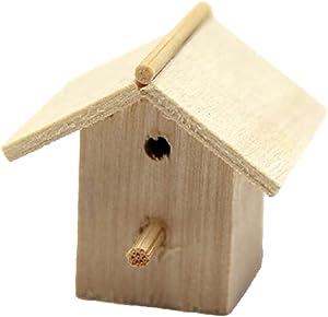 Melody Jane Dollhouse Bare Wood Bird House Box Miniature Unfinished Garden Accessory