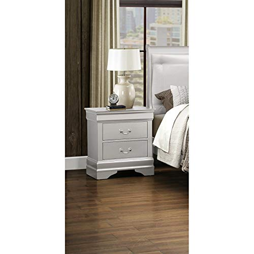 Global Furniture Silver-NS Marley Nightstand