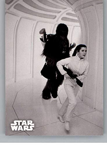 2019 Topps Star Wars Empire Strikes Back Black and White #123 Racing to Save Han Princess Leia/Chewbacca Trading Card