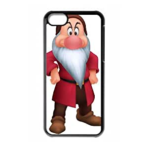 iPhone 5c Cell Phone Case Black Snow White and the Seven Dwarfs Character Bashful I9T4B