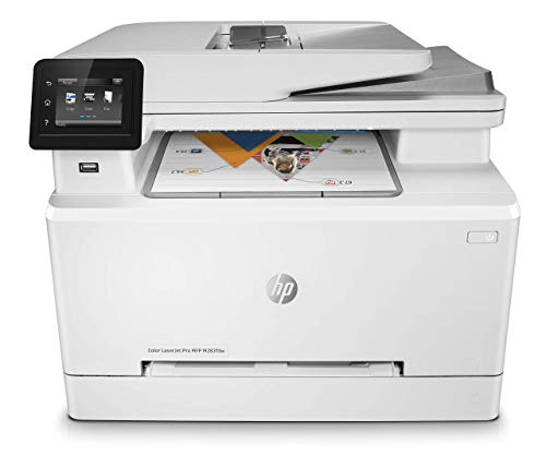 HP Color LaserJet Pro M283fdw Multifunktions-Farblaserdrucker (Drucker, Scanner, Kopierer, Fax, WLAN, LAN, Duplex…