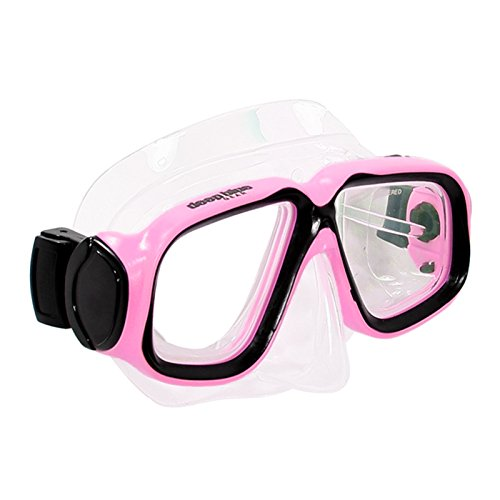 Deep Blue Gear Kids Diving Snorkeling Mask (Maui Jr.) with Optical Corrective Lenses, Pink, -5.0 Right and Left ()