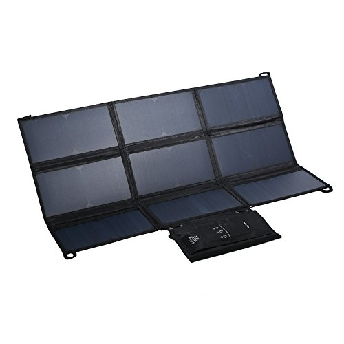 LESHP Highest Efficient Solar Charger 60W Foldable Sunpower Solar Panel Charger Dual Output (5V USB + 18V DC) For StorageBattery, iPhone, iPad, Android Smart Phone by LESHP (Image #9)