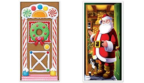 Gingerbread Door - Beistle 20017 Gingerbread House Door Cover,