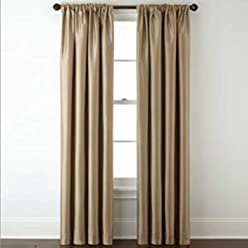 Royal Velvet Plaza Lined Blackout Rod-Pocket Curtain Panel 50