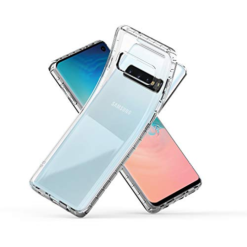 Zebrago Galaxy S10 Case Clear, Luxury Slim Ultra Thin Lightweight Electroplate Bumper Soft TPU Phone Case Stylish Edge Fit Gel Transparent Phone Cover Case Compatible with Samsung Galaxy S10 (Clear) ()