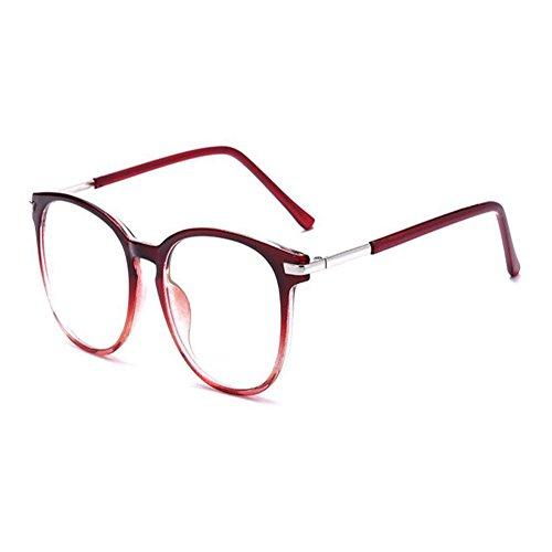 UV Visual Gaming Protección TV Lentes Redondo Hzjundasi Luz Anti Retro Mujer Blanco Transparente Lectura Rojo para Gafas Hombres Anti contra fatiga Gafas para Ordenador Azul CtPwZqP