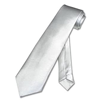 BOY'S Neck Tie Solid Silver-Gray Youth NeckTie