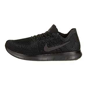 NIKE Mens Free RN Flyknit 2017 Running Shoes Black/Anthracite 880843-010 Size 10.5