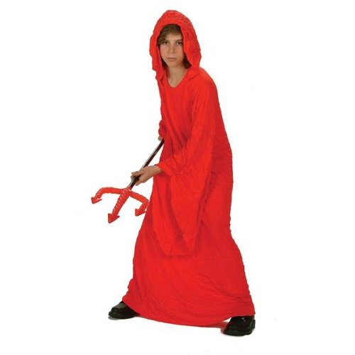 RG Costumes Crinkle Robe, Child Medium, Red (Devil Robe Child Costume)