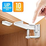Cabinet Locks Baby Proofing Child Safety Locks 10 Packs, No Tools Or Drilling Needed Safety Drawer Locks for Drawers, Cabinets, Closets For Sale