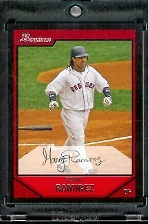 Sox Mlb Baseball Cards (2007 Bowman Manny Ramirez Boston Red Sox - MLB Baseball Trading Card #)