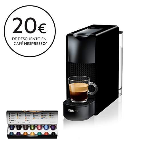 Krups Nespresso XN1108 Essenza Mini Cafetera de capsulas, 1260 vatios, negra, 0.6 litros (Pack Capsulas bienvenida incluido)