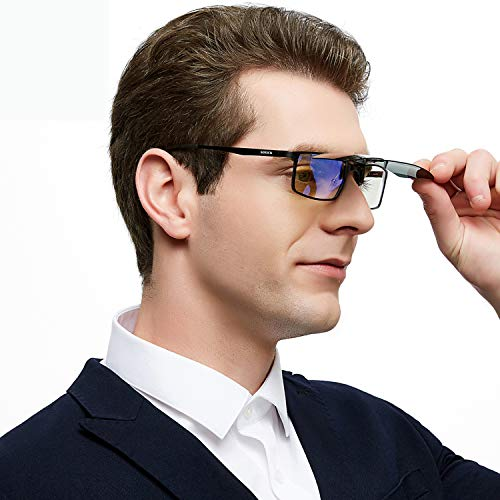 SOXICK Fashion Inter Brand Clip On Sunglasses for Men Women- Unisex Polarized Flip Up Sunglasses Over Prescription Sunglasses Green 309