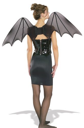 Wings Glitter Costumes (Rubie's Chiffon Bat Wings Costume Accessory)