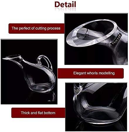 Decantador de vinos, soplado a mano artificial Cristal sin plomo Botella de vino de vino, súper duradera Sommelier's Sommelier's Caefe, 2000 ml Forma de cisne Decantador de vino transparente LOLDF1
