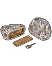 Hide A Key Fake Rock, Look and Feels Like a Real Rock While Safely Hiding Your Spare Keys Outdoors or Other Small Objects for Outdoor Garden or Yard
