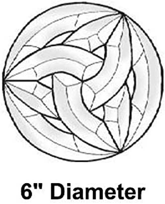 Stained Glass Supplies – Celtic Circle Bevel Cluster EC822 6 inch Diameter